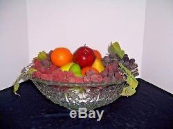 Vnt EAPG Glass Punch Bowl/Cups/Tray Tiffin Franciscan Bristol Diamond Wedding