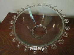 Vtg Heisey Lariat Large Punch Bowl Underplate And 12 Cups Check Shipping Options