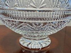 WATERFORD CRYSTAL Designers Gallery Collection Wedding Bowl Footed Punch/Serving