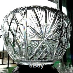 Waterford Crystal Punch Bowl +12 Matching Cups, Wedding Gift, 1964