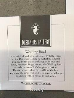 Waterford Crystal Designer Gallery Wedding 10 Punch Bowl