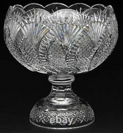 Waterford Crystal Seahorse 12.5 Punch Bowl-56039 Made In Ireland Very Rare
