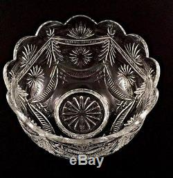 Waterford Limited Edition Scalloped Cut Crystal Punch Bowl #923 of 2,500 made