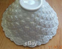 Westmoreland Milk Glass Old Quilt Punch Bowl Set 20 Pieces RARE