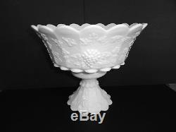 Westmoreland Paneled Grape 2 pc Punch Bowl, 14 Punch Cups & Ladle