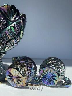 Westmoreland Thumbelina Miniature Punch Bowl Set Rare Carnival