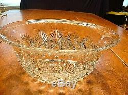 Wonderful ABP American Brilliant Period Cut Glass Punch Bowl